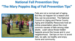 """National Fall Prevention Day - """"The Mary Poppins Bag of Fall Prevention Tips"""" @ ZOOM"""