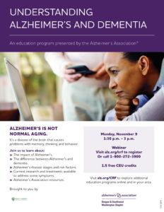 Understanding Alzheimer's and Dementia @ Virtual | | |