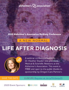 Alzheimer's Association 22nd Annual McGinty Conference for Caregivers @ Virtual