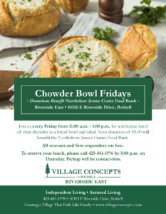 Clam Chowder Bowl Friday's @ Village Concepts Of Bothell/Riverside East