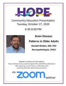 HOPE Dementia Education @ Zoom Webinar