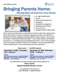 Bringing Parents Home @ https://piercecountywa.zoom.us/j/94434368523