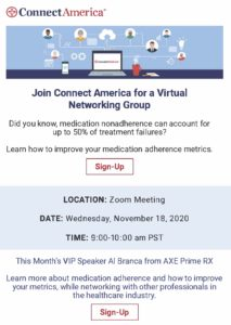 Connect America Virtual Networking Group @ ZOOM