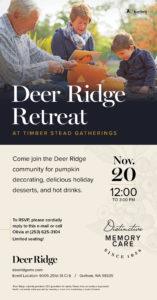 Deer Ridge Retreat - Desserts and Decorating Pumpkins! @ TimerStead Gatherings