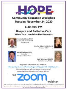 Community Education Workshop @ ZOOM