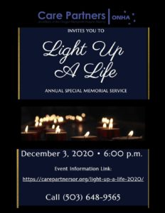 Light Up A Life - Virtual Memorial Service @ Online