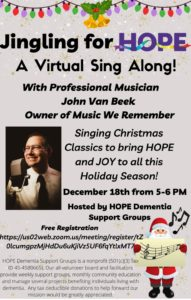 """""""Jingling for HOPE"""" - A Virtual Holiday Sing-Along @ Webinar via Zoom"""