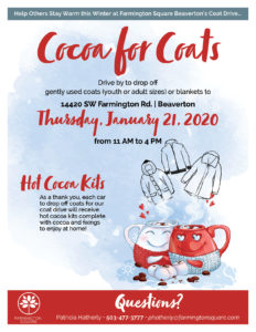 Cocoa for Coats @ Farmington Square Beaverton
