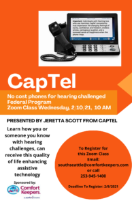 CapTel no cost phone for the hearing impaired - Federal Program @ Online