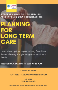 Planning for Long-term Care @ Online