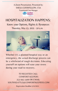 Hospitalization Happens: Know your Options, Rights & Resources @ Online