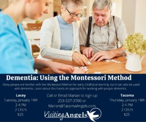 Dementia & The Montessori Method @ Visiting Angels Tacoma