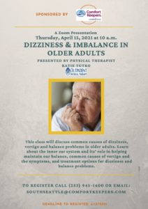 Dizziness and Imbalance in Older Adults @ Online