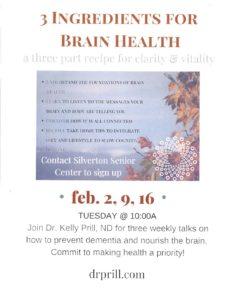 3 Ingredients for Brain Health @ ZOOM
