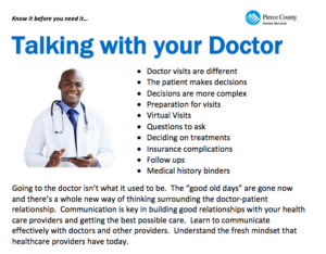 Talking with your Doctor @ Online Webinar