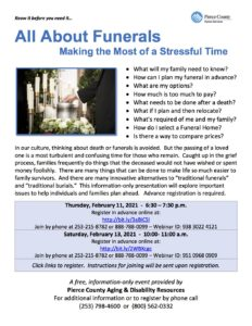 All About Funerals: Making the Most of a Stressful Time @ Online Webinar