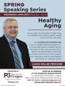 April Provider Talk from P3 Health Partners - Healthy Aging @ Roseburg Senior Center