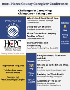 2021 Pierce County Caregiver Conference @ Online