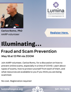 Fraud and Scam Prevention @ online via Zoom