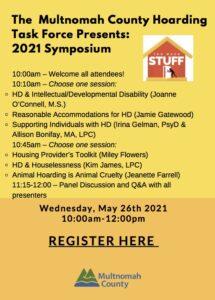The Multnomah County HoardingTask Force Presents: 2021 Symposium @ ZOOM