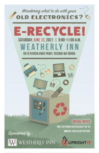 Free Electronic Recycling @ Weatherly Inn