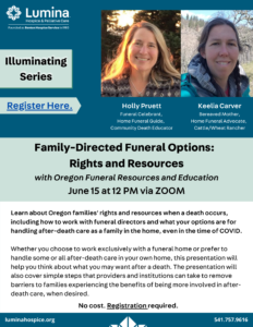 Illuminating Series: Family-Directed Funeral Options - Rights and Resources @ Zoom