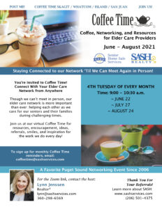 SASH Realty & Senior Home Sale Services Coffee Time @ Zoom