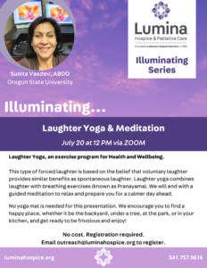 Illuminating Series: Laughter Yoga & Meditation @ Zoom