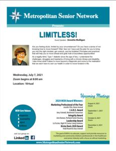 Metropolitan Senior Network- ONLINE MEETING @ Online meeting | Portland | Oregon | United States