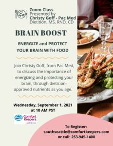Brain Boost: Energize & Protect your Brain with Food @ Online