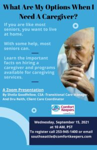 What Are My Options When I need A Caregiver @ Online Zoom Class