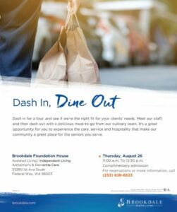 Dash In, Dine Out Brookdale Foundation House @ Brookdale Foundation House