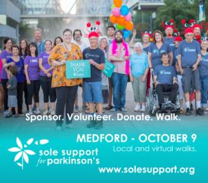 Sole Support Walk for Parkinson's – Southern Oregon @ Bear Creek Park