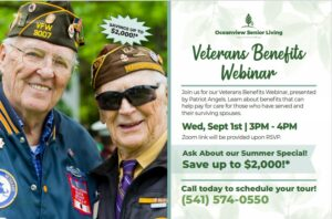 Veteran's Benefits Free Informational Webinar @ Zoom