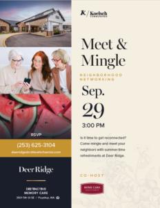 Meet and Mingle! @ Deer Ridge Memory Care Community