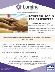 Powerful Tools for Caregivers @ Zoom