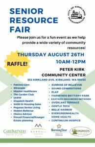 Senior Resource Fair @ Peter Kirk Community Center
