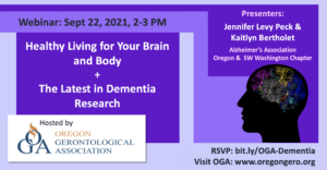 Healthy Living for Your Brain & Body & The Latest in Dementia Research @ Zoom