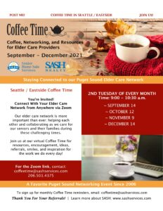 SASH Seattle & Eastside Coffee Time - Via Zoom - 2nd Tuesday of Each Month @ Zoom