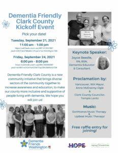 Dementia Friendly Clark County Kickoff Event @ Online via Zoom