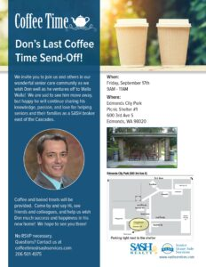 You're Invited! SASH Don Gibbons Send-Off Party @ Edmonds City Park @ Edmonds City Park (Picnic Shelter #1)
