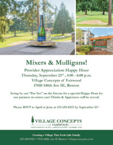 Mixers & Mulligans! @ Village Concepts of Fairwood