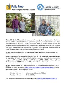 Aging Wisely: Fall Prevention Series @ View Below for Youtube and Channel links