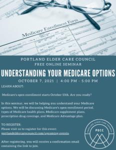 Understanding Your Medicare Options @ ZOOM