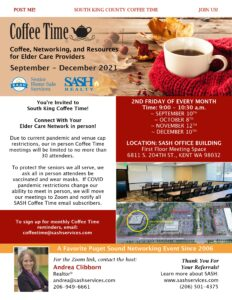 SASH South King Coffee Time - In Person - in Kent @ SASH Office (1st Floor Conference Room)