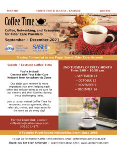 SASH North Seattle & Snohomish Coffee Time - In Person - October 15th @ MBK Mountlake Terrace Plaza