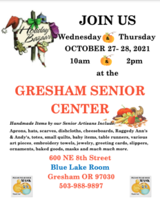 Gresham Senior Center Holiday Bazaar @ Gresham Senior Center